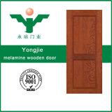 Puerta interior de madera de la melamina insonora barata del precio del diseño simple en Zhejiang, China