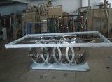 販売(A8082)のための贅沢なデザイン気高い中心の形のガラス食事の椅子