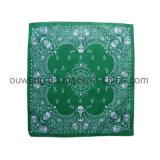 Afgedrukte Zakdoek van Bandana Paisley van het Masker van de Visserij van de douane de Multifunctionele Promotie Vierkante Katoen