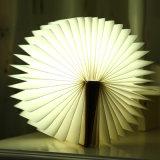 USB 재충전용 기능을%s 가진 제조자에 의하여 주문을 받아서 만들어지는 로고 폴딩 책 모양 가벼운 참신 장식적인 LED 책 빛