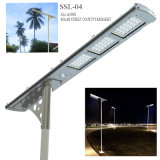 Luz de calle solar integrada del LED con el panel ajustable