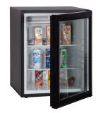 Transparent Glass Door Hotel Electronic Minibar Beverage Cooling