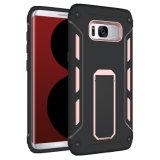 PC 2 de TPU en 1 caja híbrida del teléfono de Kickstand para la galaxia S8 S8 del iPhone 7 6 Samsung más A7 J7