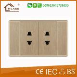 Soquete elétrico universal dobro do interruptor da parede do Mf 3pin