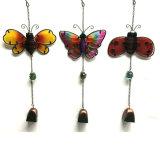 Vento Bell popolare del metallo della decorazione del giardino pensile con vetro macchiato