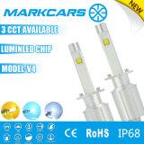 Farol elevado do diodo emissor de luz do lúmen H1 de Markcars 9600lm