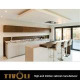 自然な木製のベニヤの台所食器棚のキャビネットTivo-0163V