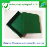 Papel rígido de encargo de la cartulina dos pedazos del rectángulo del rectángulo de empaquetado de la disposición CD/DVD