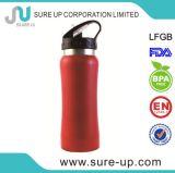 Bouteille de sport d'acier inoxydable/bouteille d'eau large de bouche isolée par vide avec le couvercle de paille