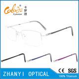 Рамка просто Semi-Rimless Titanium стекел Eyeglass Eyewear оптически (8506)