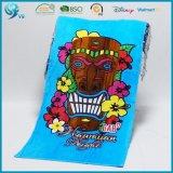 La suavidad 100% del terciopelo del algodón crea la toalla para requisitos particulares impresa historieta