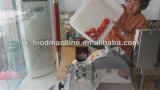 Cubos vegetais automáticos da mandioca do tomate do Taro da cenoura da batata da fruta que cortam a máquina de estaca