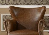 Butaca casera de cuero moderna americana de los muebles