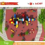 Campo de jogos ao ar livre dos miúdos quentes da venda com corrediça plástica