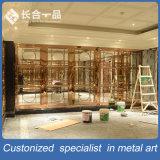 Cassa dorata personalizzata di progetto del divisorio di stile cinese dell'acciaio inossidabile