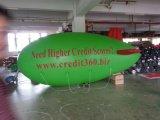 Piccolo dirigibile verde gonfiabile di pubblicità di vendita caldo dell'elio con gli entrambi marchio del lato