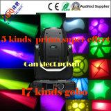 lumière principale mobile de faisceau de 17r 350W avec 5 prismes