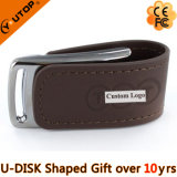 Großverkauf-fördernder Geschenk-Leder USB-Blitz (YT-5116-01)