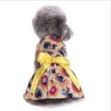 Le gilet floral élégant Sundress de chemise de robe de crabot de bande d'animal familier vêtx l'habillement