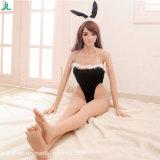 le solide réel japonais de 158cm aiment la poupée d'amour de sexe de silicones de taille pour le chat minuscule de l'homme