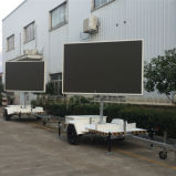 LED表示ボードを広告する屋外En12966移動式トレーラー