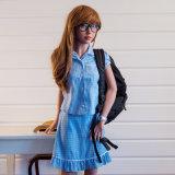 Doll van het Geslacht van de Taille van de Borst van 155cm Klein Dun Aziatisch met Uitstekende kwaliteit