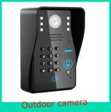 Дверной звонок телефона двери WiFi видео- с функцией внутренной связи пароля RFID