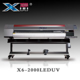 1.85mのDx5*2 Xuli安定性が高いプリンターが付いている紫外線プリンター機械を転送するヘッド大きいフォーマットロール