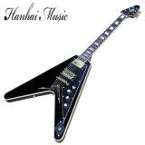 Hanhai Musik-/ungewöhnliches geformtes des Fliegen-V elektrische Gitarre