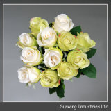 Decor domestico Real Touch Yellow Artificial Flower Rosa per Wedding
