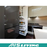 Muebles modulares laminados del armario de la cocina (AIS-K207)