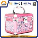 Het roze Geval van de Make-up van de Organisator met Spiegel hb-3200
