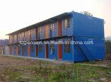 Casa móvil prefabricada/prefabricada del diseño colorido de Peison