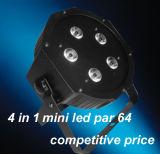 Iluminação americana plástica barata da carcaça 5X10W RGBA DJ