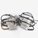 Diverse de Kleur Gegraveerde Modieuze Armband van Woorden voor Speciale Gelegenheid