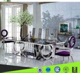 ホーム家具の方法デザイン緩和されたガラスのダイニングテーブル