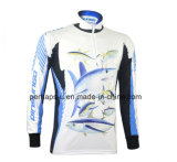 Schnelles-Drying Long Sleeve Fishing Jersey mit Sublimation Printing