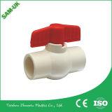 Heißes verkaufendes Plastikmaterielles CPVC Kugelventil des griff-Hochbau-für Wasserversorgung