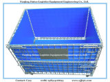 Stapelbares Warehouse Storage Metal Wire Mesh Roll Cage mit Wheels