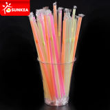 Yellow rojo Cold Drink Plastic Straws con Paper Packaging