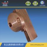 熱い鍛造材による銅の部分