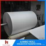 rolo enorme 45 de 500m/1000m/2000m, 60, 70, papel de transferência do Sublimation da tintura 90GSM para Reggiani Printer/Ms-Jp4