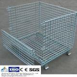 Contenitore di memoria piegante della rete metallica per memoria del magazzino Using
