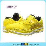 Zapato atlético del diseño amarillo para los hombres