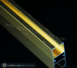 Curtain di alluminio Track Profiles con Brushed Gold Color