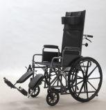 Manuale d'acciaio, adagiandosi, sedia a rotelle, piegatura, (YJ-011)