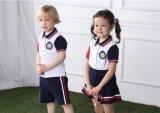 Muchacho de escuela primaria con estilo modificado para requisitos particulares de la manera y uniforme S53104 de la muchacha