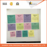 خمسة نجم بطاقة ورقة يطبع علامة مميّزة طباعة لاصق لصوق شفّافة