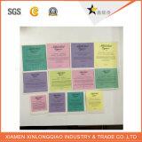 Etiqueta transparente adesiva impressa papel da impressão da etiqueta do Tag do PVC do vinil