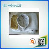 Chaussette de filtre de fibre de verre de chaudières d'incendie de charbon de température élevée